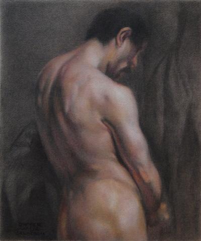 Male Torso -- after Delacroix